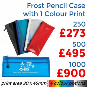 Frost Pencil Case With Single Colour Print
