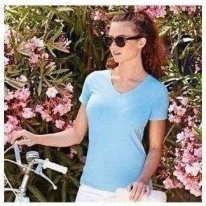 Fruit of the Loom Lady-fit v-neck tee