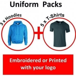 Gildan 8 Item Uniform Pack with Embroidered or Printed Logo