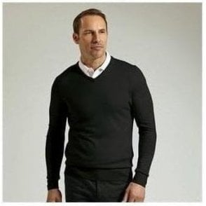 V-neck Merino wool sweater (MKN7216VN)