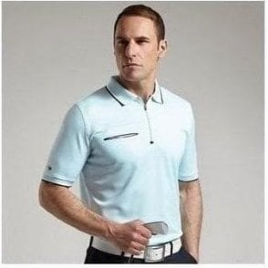 Zip neck polo shirt with pocket (MSP7424)