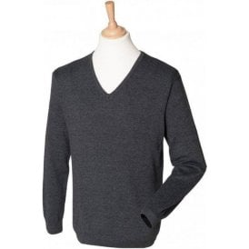 Henbury 12 gauge v-neck jumper