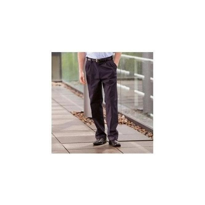Henbury Teflon coated pleated chino trousers