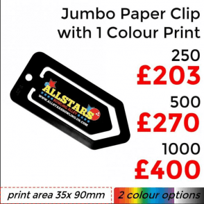 Jumbo Paper Clip With Single Colour Print