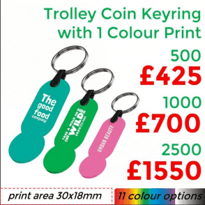 Keep-It Trolley Coin Keyring With Single Colour Print
