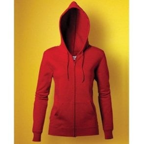 Ladies Full Zip Hooded Sweatshirt