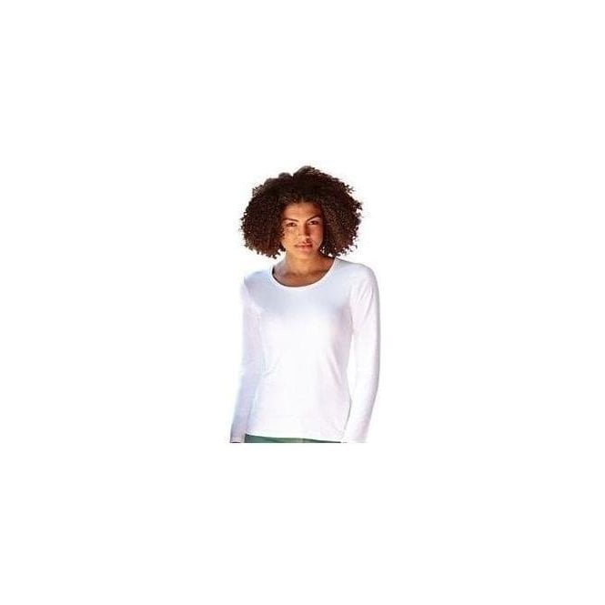 Fruit of the Loom Lady-fit crew neck long sleeve tee