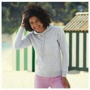 Lady-fit lightweight hooded sweatshirt