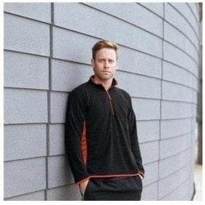 Lightweight microfleece top with side panelling