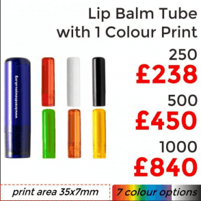 Lip Balm Tube With Single Colour Print