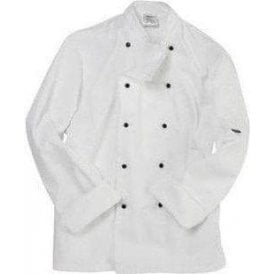 Long sleeve chefs jacket with removable studs
