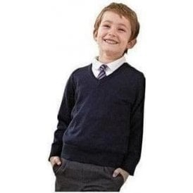 Kids v-neck fully fashioned jumper