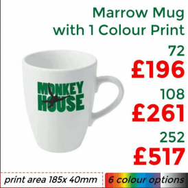Marrow Earthenware Mug With Single Colour Print