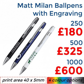 Matt Milan Ballpen With Engraving