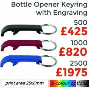 Metal Bottle Opener Keyring With Engraving