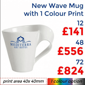 New Wave Mug With Single Colour Print