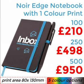 Noir Edge Notebook With Single Colour Print
