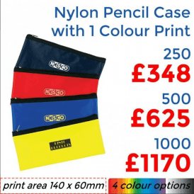 Nylon Pencil Case With Single Colour Print