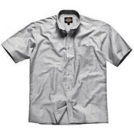 Oxford weave short sleeve shirt
