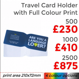 Oyster Card/ Travel Holder With Full Colour Print