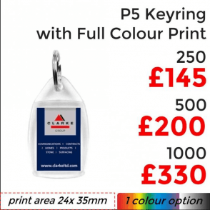 P5 Keyring With Full Colour Print