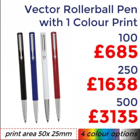 Vector Rollerball With Single Colour Print