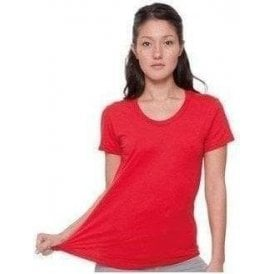 Poly/cotton short sleeve women's T (BB301)