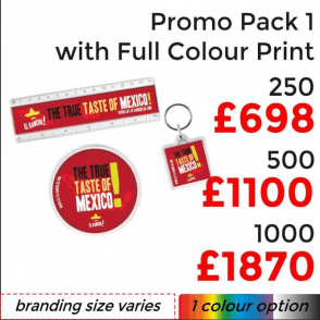 Promo Pack 1 With Full Colour Print
