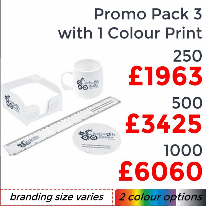 Promo Pack 3 With Single Colour Print