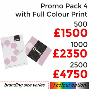 Promo Pack 4 With Full Colour Print