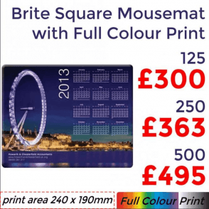 Rectangular Brite Mouse Mat With Full Colour Print