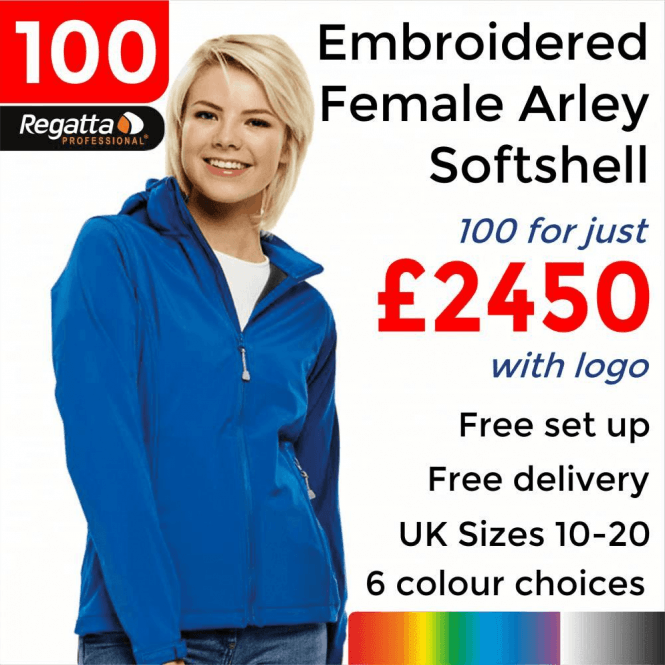Regatta 100 x Embroidered Women's Arley Softshell Jackets £2450
