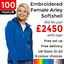 100 x Embroidered Women's Arley Softshell Jackets £2450