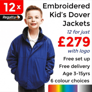 12 x Embroidered Regatta Kids dover Jackets £279