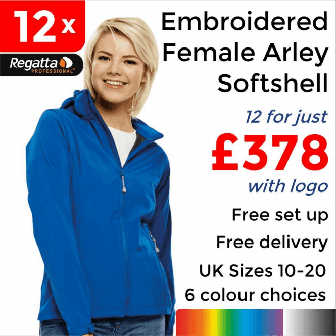 Regatta 12 x Embroidered Women's Arley Softshell Jackets £378