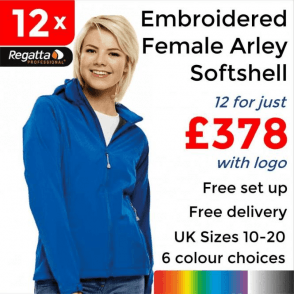 12 x Embroidered Women's Arley Softshell Jackets £378