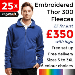 25 x Embroidered Regatta Thor 300 Fleece £350
