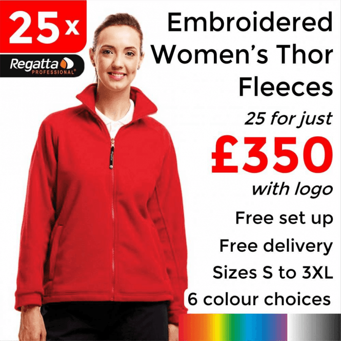 Regatta 25 x Embroidered Regatta Thor 300 Women's Fleece £350