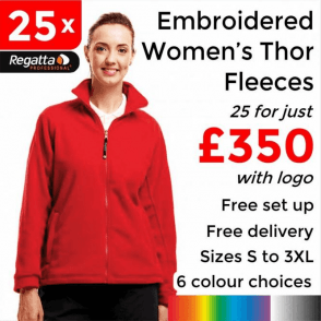 25 x Embroidered Regatta Thor 300 Women's Fleece £350