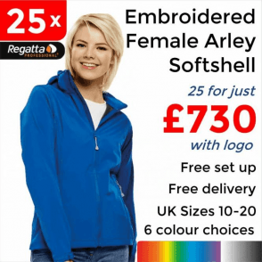 25 x Embroidered Women's Arley Softshell Jackets £730