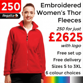 250 x Embroidered Regatta Thor 300 Women's Fleece £2625