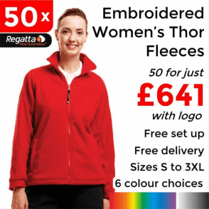 50 x Embroidered Regatta Thor 300 Women's Fleece £641