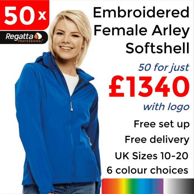 50 x Embroidered Women's Arley Softshell Jackets £1340