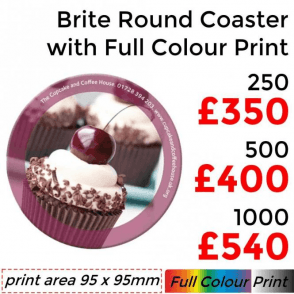 Round Coaster With Full Colour Print