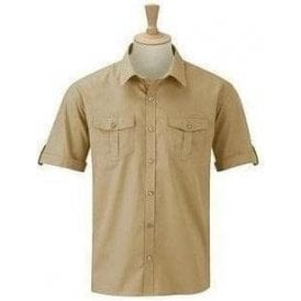 Russell Collection Roll-sleeve shirt short sleeve
