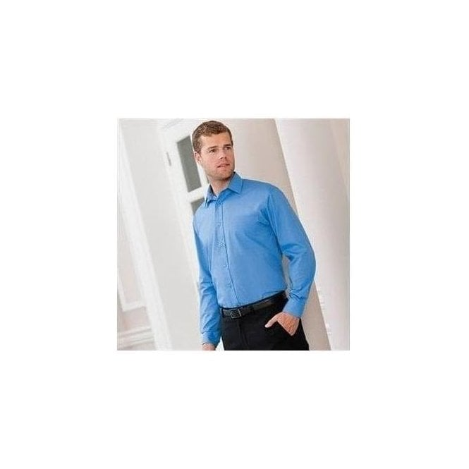 Russell Long sleeve poly cotton Easycare poplin shirt