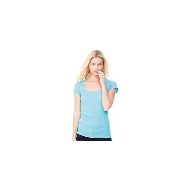 Bella+Canvas Sheer mini rib scoop neck t-shirt