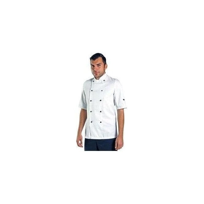 Dennys Short Sleeve chef's jacket with removable studs