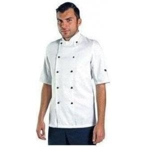 Short Sleeve chef's jacket with removable studs