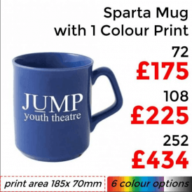 Sparta Earthenware Mug With Single Colour Print